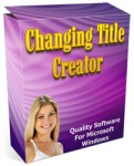 Changing Title Creator