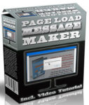 Page Load Message Maker